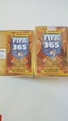 Lot 2 Displays Panini Fifa 365 Nouvelle Collection 2020 Neufs sous blister.