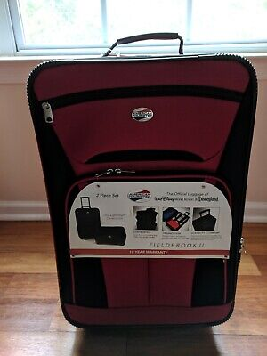 "American Tourister Fieldbrook II 2 Piece 21""x14""x7"" Luggage Sets - Red"