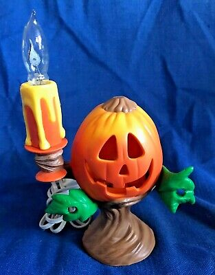 Halloween Shutter Jack-O-Lantern Radiance Light Canvas x46722 NEW flicker light