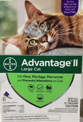 Bayer Advantage II Flea Prevention for Large Cats over 9lbs 6 Doses