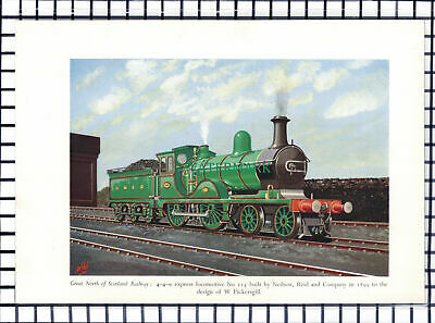C6727) Great North Of Scotland Railway Locomotive No 115 GNSR - 1950 Print