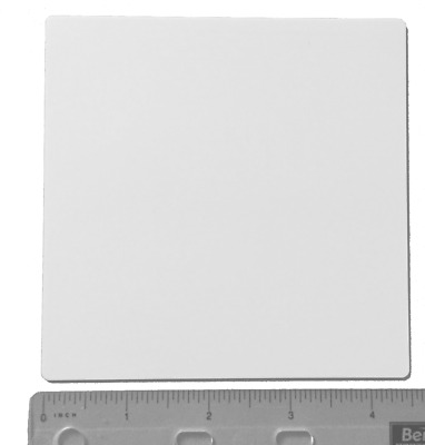 "50 THIN SQUARE 4.5"" x 4.5"" ALUMINA CERAMIC SHEET SUBSTRATE PLATE $4/plate"