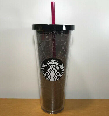 New Starbucks 2019 Glitter Spiderweb Limited Edition 24 oz Tumbler Cup Halloween