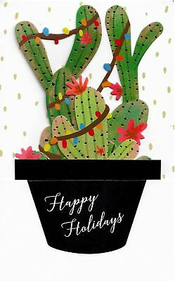 Love The Southwest? Decorated Cactus Pop-Up Deluxe Christmas Cards (3)