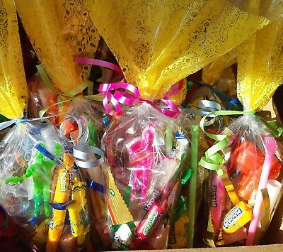 Childrens VEGETARIAN halal sweets prefilled party bags birthday boy girl