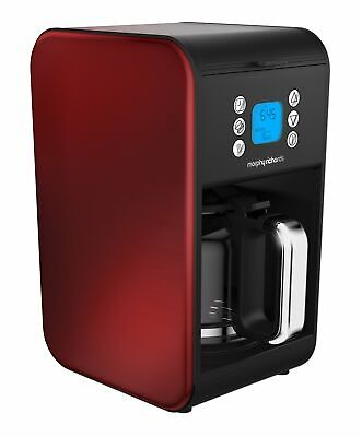 Morphy Richards 162009 Pour Over Filter Coffee Maker, 1.8 Litre, 900 W, Red,