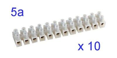 Pack of 10 x Hellermann Tyton 12-Way 5a Terminal Block CS5NT P4CT#