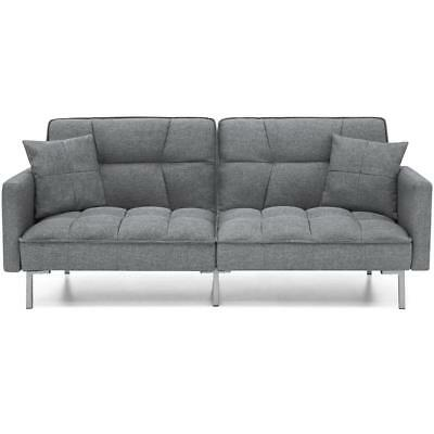 Celine Luxury 3 Seater Fabric Sofa Bed with pillows recliner sofabed settee