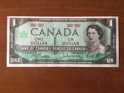 1967 Canadian Uncirculated Centennial One Dollar Bill