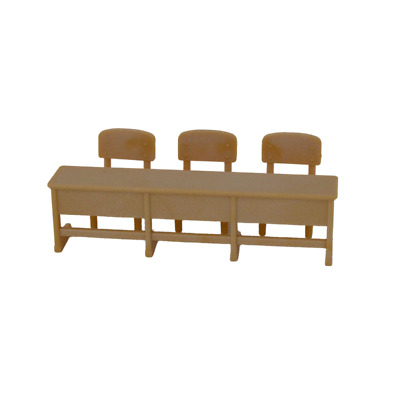 Sylvanian Families SCHOOL LONG DESK AND CHAIRS Fan Club Epoch Calico Critters