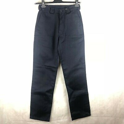 Mens Real Vintage Nwt Cat Caterpillar Usa Navy Work Wear Trousers 28/34 Pants