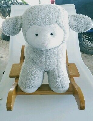 Pottery Barn Kids Lamb Rocking Rocker Toy Infant Toddler Great Condition