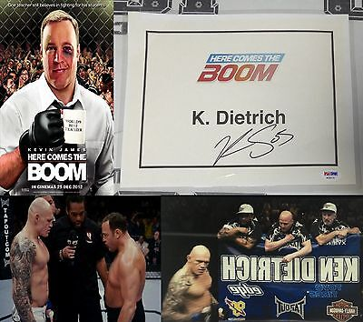 Krzysztof Soszynski Signed Here Comes the Boom Movie Used Door Tag PSA/DNA UFC