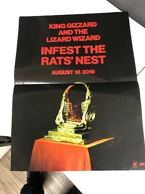 King Gizzard And The Lizard Wizard Infest The Rats' Nest 18x24 Poster 2019, RARE