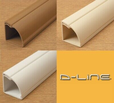 D-Line Quadrant Floor Self Adhesive Trunking Tv Cable Hide Tidy Cover Pvc