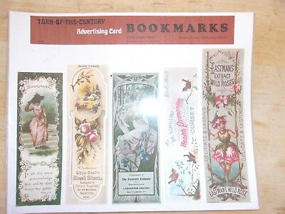 Vintage Bookmarks Retail Display Advertising Bookmarks