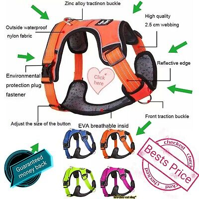 Harness Dog Vest Pet Adjustable No Small Medium Large Pull Nylon  Xl Quality Con