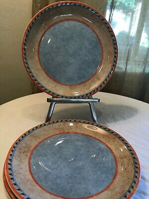"Villeroy & boch Switch 4 Nazare 4 8"" Plates Color  Near Mint Condition"