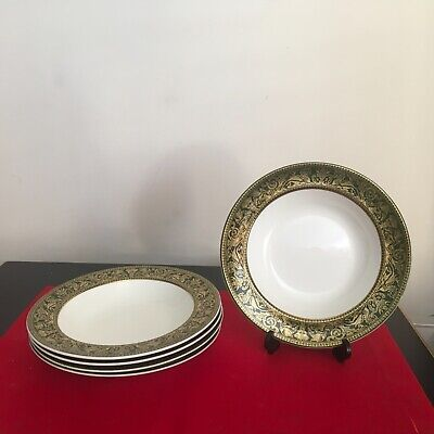 WEDGWOOD FLORENTINE - Arras Green  1 x Lipped SOUP PLATE 3 available