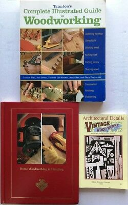 3 Books Woodworking & Finishing, Complete Guide, Vintage Architectural Details