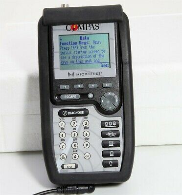 Fluke COMPAS Microtest 8160 Digital Meter Network LAN Testing & Diagnostic Tool