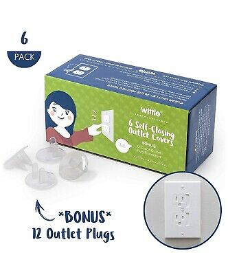 Child Electrical Safety Kit | Includes (12) Self-Closing Covers (24) Plug Covers