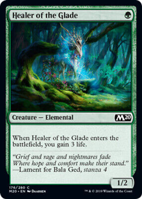 4x NM-Mint, English Foil Healer of the Glade - Foil Core Set 2020 magicmtg