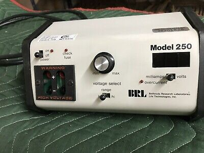 BRL BETHESDA RESEARCH LABORATORIES MODEL 250  POWER SUPPLY Untested