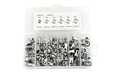 JG923-Z 190pcs aluminium alloy flat head rivet nut kit  M3 M4 M5 M6 M8 M10