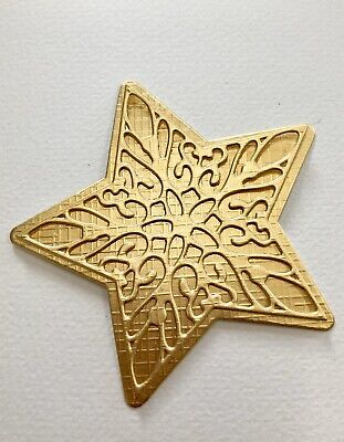 FREE POSTAGE OFFER-SPECIAL LISTING-3 X Christmas Star in Foil Cardstock Die Cuts