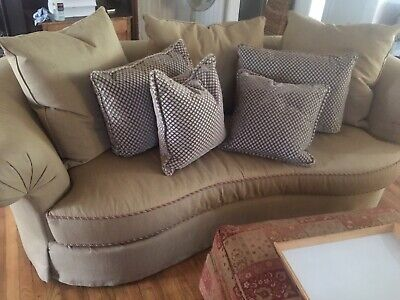 Pleasant Henredon Sectional Sofa 3 Piece Down Filled With Matching Machost Co Dining Chair Design Ideas Machostcouk