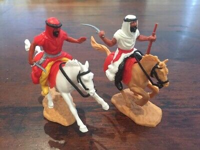 Timpo Arab/ Desert Warriors Mounted - Toy Soldiers - 1970's