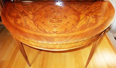 Marquetry Inlaid Wall Table Console Table Console Baroque Louis Seize XV XVI