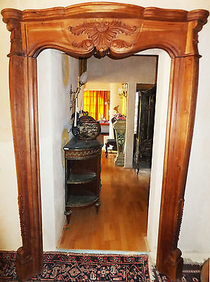 Exotic Wood Palace Door Frame Front Apartment Fireplace Fancy Dress Antique