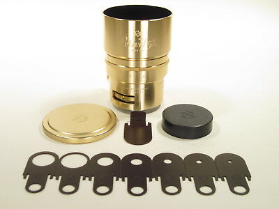 Petzval-58 F=58 mm 1:1,9 bokeh control art lens for Nikon. Gold