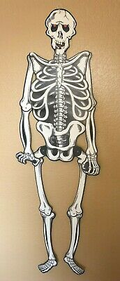 "Jointed 55"" Die Cut Skeleton Halloween Decoration Paper Life Size Creepy Spooky"