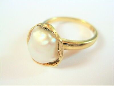 Ring Gold 585 mit Perle, 4,07 g
