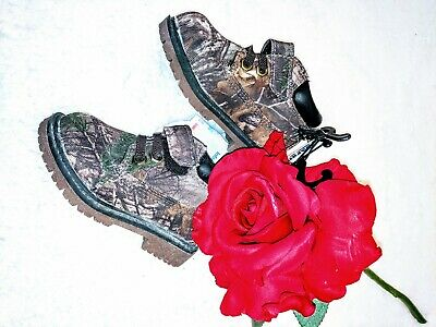 NEW Boots Hiking Hunting Camouflage Infant Shoes Boy girl Toddler Sizes 4 brown