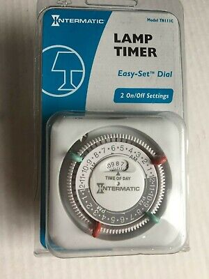 Intermatic Lamp /& Appliance 24-hour Timer 2 Settings TN11C Lot of 3