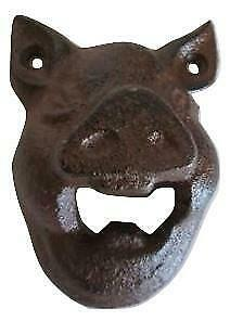 Cast Iron Wall Mounted Pig Bottle Opener Kitchen Pub Bar Beer Opener Bars Gift