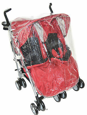 Raincover Compatible with Maclaren Twin Techno Double Pushchair