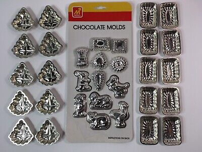 Vintage Aluminum Metal Candy Chocolate Molds Small Animals Shapes Crafts Soaps