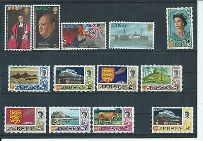 Jersey stamps. 1970 Liberation set MNH plus a few of the 1970 decimal (E232)