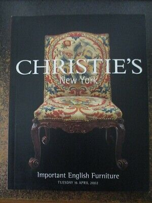 Christie's New York Auction Catalog Important English Furniture 16 April 2002
