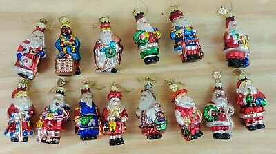 Vintage Thomas Pacconi Classics Collection Santa Claus Christmas Ornaments x 14