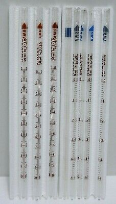 (8) Kimax 10ml and 5ml Mohr Type Measuring Pipets