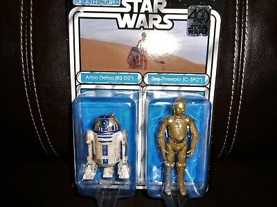 Star Wars 3.75 Disney Parks Exclusive R2-D2 C-3PO Droid 2 Pack 40th Anniversary