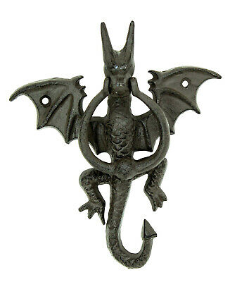 Cast Iron Dragon Doorknocker - Serpent Door Knocker