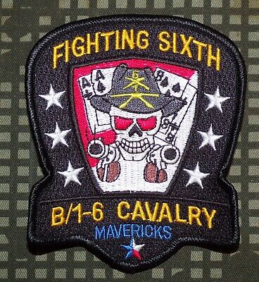 US Army B Troop, 1st Squadron, 6th Cavalry Regiment Patch