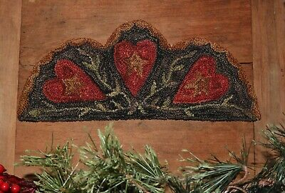 Primitive Punch Needle Pattern ~ 3 Hearts